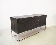 Milo Baughman Bamboo and Chrome Credenza   From a unique collection of antique and modern cabinets at https://www.1stdibs.com/furniture/storage-case-pieces/cabinets/