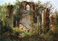 Caspar David Friedrich - Klosterruine Eldena (ca.1825) - La ruina de Eldena (Klosterruine Eldena bei Greifswald)