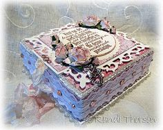 TUTORIAL ~ not in English; would make a beautiful wedding box! 3d Paper Crafts, Paper Crafting, Diy Crafts, Cigar Box Crafts, Workshop, Craft Stalls, Altered Boxes, Altered Art, How To Make Box