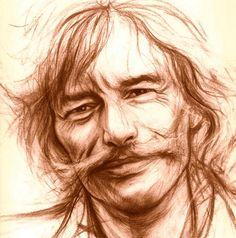 Jean Ferrat Portrait Au Crayon, Pencil Portrait, Cool Art Drawings, Pencil Drawings, Jean Ferrat, Celebrity Drawings, Sketch A Day, Photoshop, Pop Rocks