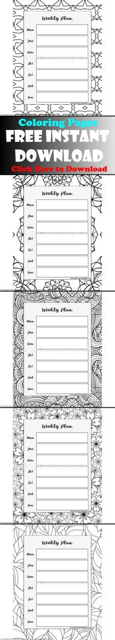 free weekly schedule template pdf week planner week planner - weekly schedule template