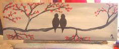 love birds on cherry tree