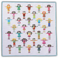 Image of Worry Dolls -quilt. what a lovely idea. The pattern is available to buy from this link. i just find it very inspiring. ive always lved worry dolls!