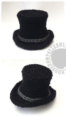 Crochet Amigurumi Ideas Top Hat free crochet pattern - Scrooge Gonk free crochet pattern Doll clothes: Part of our crochet adventure; A Gonk's Journey. One of many free crochet patterns to collect along the way! Crochet Baby Hats Free Pattern, Crochet Flower Patterns, Crochet Flowers, Crochet Appliques, Crochet Birds, Crochet Gratis, Cute Crochet, Crochet Top, Crochet Shoes
