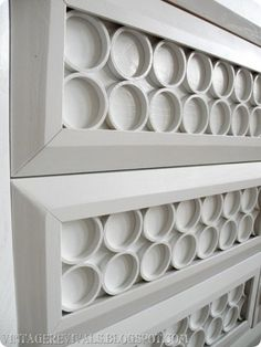 pvc pipe dresser – I love this update to an old dresser using pvc pipes.