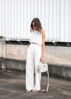 This year, ditch the customary stars and stripes duds for an all white outfit to kick off a lit Summer…  @FashionCognoscente Photos: Kenza Zouiten, Johanna Olsson, Walk In Wonderland, Viva Luxury, Na