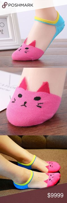 COMING SOON!! - Silk Cat Face Low Cut Socks Made of high-quality cotton blend material, very soft and comfortable to wear.  Sweet candy color and low cut and ankle, can be matched with most anything!!! Cinderella's Closet Accessories Hosiery & Socks