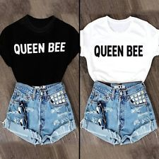 Fashion Womens Summer Short Sleeve Shirt Casual Blouse Loose Cotton Tops T-Shirt Short Outfits, Casual Outfits, Cute Outfits, T Shirts, Casual Shirts, Loose Shorts, Friends Fashion, Cotton Blouses, Women's Summer Fashion