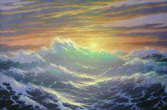 Фото море, живопись, художник, парусник, маринист