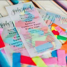 Confetti Stuffed Wedding Programs by SquiddyShop on Etsy