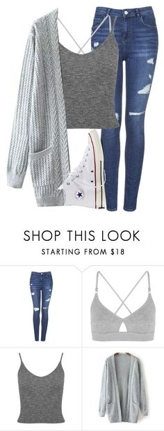 """Untitled #1202"" by abbeycadabbey ❤ liked on Polyvore featuring moda, Topshop, Base Range, Miss Selfridge i Converse"