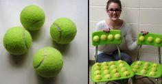Sie zerschneidet Tennisbälle und beklebt die Stühle. Ihre Schüler lernen eine Lektion für's Leben…