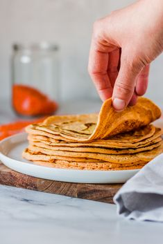 These healthy and delicious lentil tortillas are made from just three ingredients and none of them is flour! They are gluten-free, low in fat, high in protein and super easy to make.