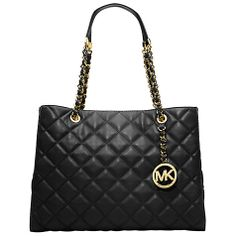 Michael kors Susannah Large quilt tote handbag@ looks like a chanel purse! one day my loveee...