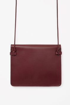 COS image 2 of Leather shoulder bag in Ruby