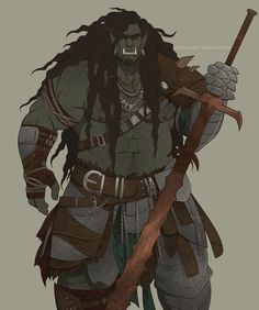 m Half Orc Ranger Med Armor Sword Home of Handsome Muscle Boys Fantasy Character Design, Character Creation, Character Design Inspiration, Character Concept, Character Art, Fantasy Races, Fantasy Warrior, Fantasy Rpg, Medieval Fantasy