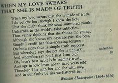 Shakespeare. Sonnet 138