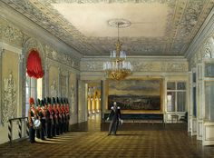 Interiors of the Winter Palace. The Sentry Hall by Edward Petrovich Hau - Architecture, Interiors Drawings from Hermitage Museum Imperial Palace, Imperial Russia, Palazzo, Romanov Palace, Palace Interior, Architecture Wallpaper, Architecture Interiors, Russian Architecture, Winter Palace