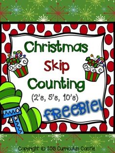 Here's a set of Christmas themed resources for practicing skip counting by 2s, 5s, and 10s.