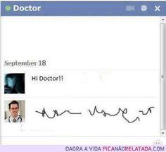 Imagina se conversar com seu médico por facebook fosse assim!
