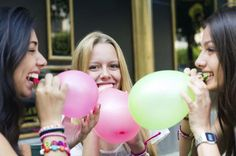 Birthday Party Ideas for 12-13 Year Old Girls. but this makes me think the girls are sucking the helium out of the balloons....