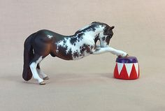 Custom CM Breyer Stablemate Lacy Pinto Circus Horse Stallion