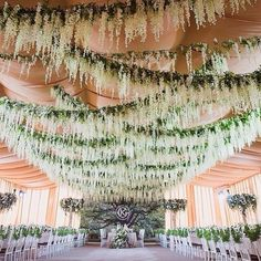 51 Ideas Garden Wedding Ceremony Arch Hanging Flowers For 2019 Wisteria Wedding, Garden Wedding, Dream Wedding, Wedding Ceiling Decorations, Wedding Centerpieces, Hanging Ceiling Decorations, Ceiling Draping Wedding, Wedding Events, Wedding Ceremony