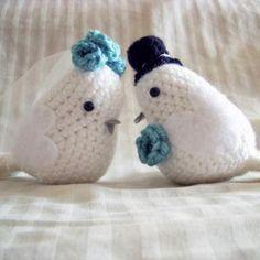Bride and Groom Lovebirds amigurumi pattern