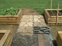 Amazon.com: Pathmate stampi in pietra calcestruzzo Stepping, Belgio: Patio, Prato e Giardino
