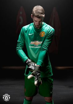De Gea in the new 14/15 Nike goalie kit. 7.7.2014.