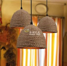 34 Brilliant Diy Wood Chandelier Design Ideas That You Must Try - Classic designs are widely diverse and include Victorian, Edwardian, Revival, Tudor and many other styles. Each era has different defining characteris. Rope Crafts, Diy Home Crafts, Diy Home Decor, Diy Luz, Rope Lamp, Deco Luminaire, Creation Deco, Diy Chandelier, Wood Lamps