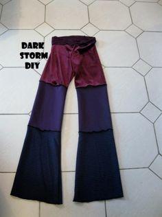 Dance Pants DIY Purple Velvet Pixie Faerie Clothing Handmade Flow Gypsy Hippie
