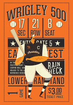 BASEBALL PRINT on Behance by Neil Stevens