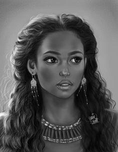 f Sorcerer Robes Necklace portrait female urban City undercity Tower lg Black Love Art, Black Girl Art, Black Is Beautiful, Black Girl Magic, Art Girl, Black Cartoon, Cartoon Art, Drawings Of Black Girls, African American Artwork