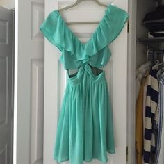 Keepsake lost without you dress Lightly worn Aqua dress with cut outs Keepsake Dresses