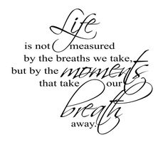Marvelous Life Is Not Measured By The Breaths We Take