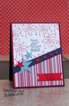 CC536 ~home of the free~ by MaryR917 - Cards and Paper Crafts at Splitcoaststampers