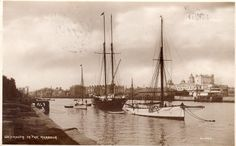 WEYMOUTH The Harbour Dorset old Wheelers Postcard used 1924