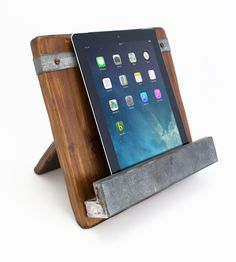 Reclaimed Wood Ipad & Cookbook Holder