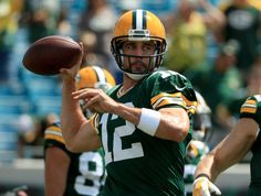 Aaron Rodgers #12 of the Green Bay Packers warms up during the game against the Jacksonville Jaguars at EverBank Field on Sept. 11, 2016 in Jacksonville.