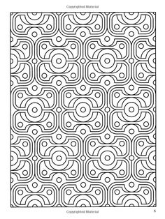 Deco Tech Geometric Coloring Book John Wik Books For Adults 0800759475469