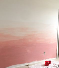 DIY Ombre Wall Tutorial Ombre Painted Walls, Ombre Walls, Kids Wall Murals, Painted Wall Murals, Diy Wall Painting, Diy Ombre, Project Nursery, Bedroom Wall, Decoration