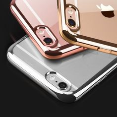 eb6b8b921a7589 Aliexpress.com : Buy Portefeuille For iPhone 7 Case Clear Soft TPU Flexible Back  Cover Glitter Slim Protective Electroplating Frame Capa For iPhone 7 from  ...