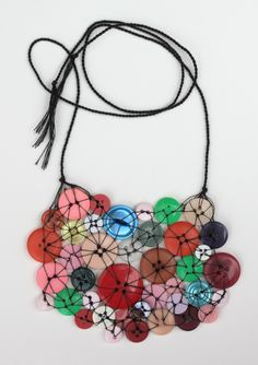 Vintage Buttons Necklace https://www.etsy.com/listing/118587121/party-button-necklace-vintage-buttons