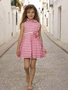 Vestido rayas fucsia Torres