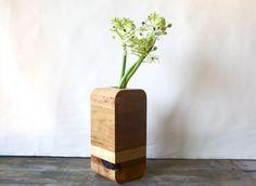 cherry wood vase by BDJ Craftworks, $68