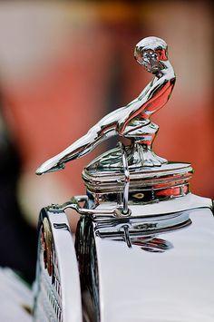 """1930 Packard 734 Speedster Boattail Runabout """"Adonis"""" Hood Ornament by Jill Reger"""
