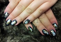 LCN gel nails with gold and silver foil decorations Gold Nails, How To Do Nails, Hair And Nails, Nail Art, Decorations, Silver, Image, Beauty, Gold Nail