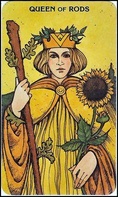 Queen of wands/rods. Morgan Greer deck.