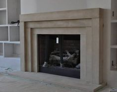 Contemporary Wood Fireplace Mantel | Luxe | Living Rooms ...